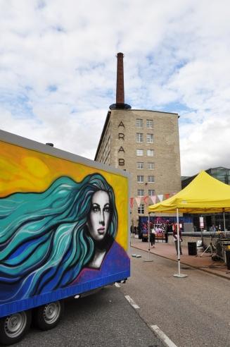 AKF 2015. #StreetArt #Finland #SallaIkonen #female #Helsinki #Arabia #woman #Mural #graffiti #art