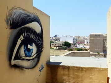 #StreetArt #Finland #SallaIkonen #female #Malta #eye #Mural #graffiti #art