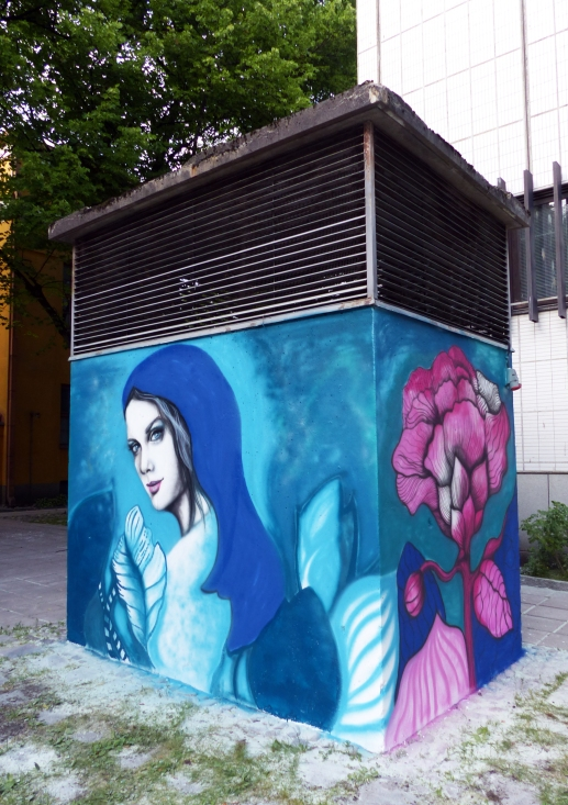 #StreetArt #Finland #SallaIkonen #female #Mikkeli #Deer #Mural #graffiti #art